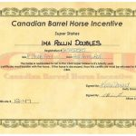 Ima Rollin Doubles - SS Certificate